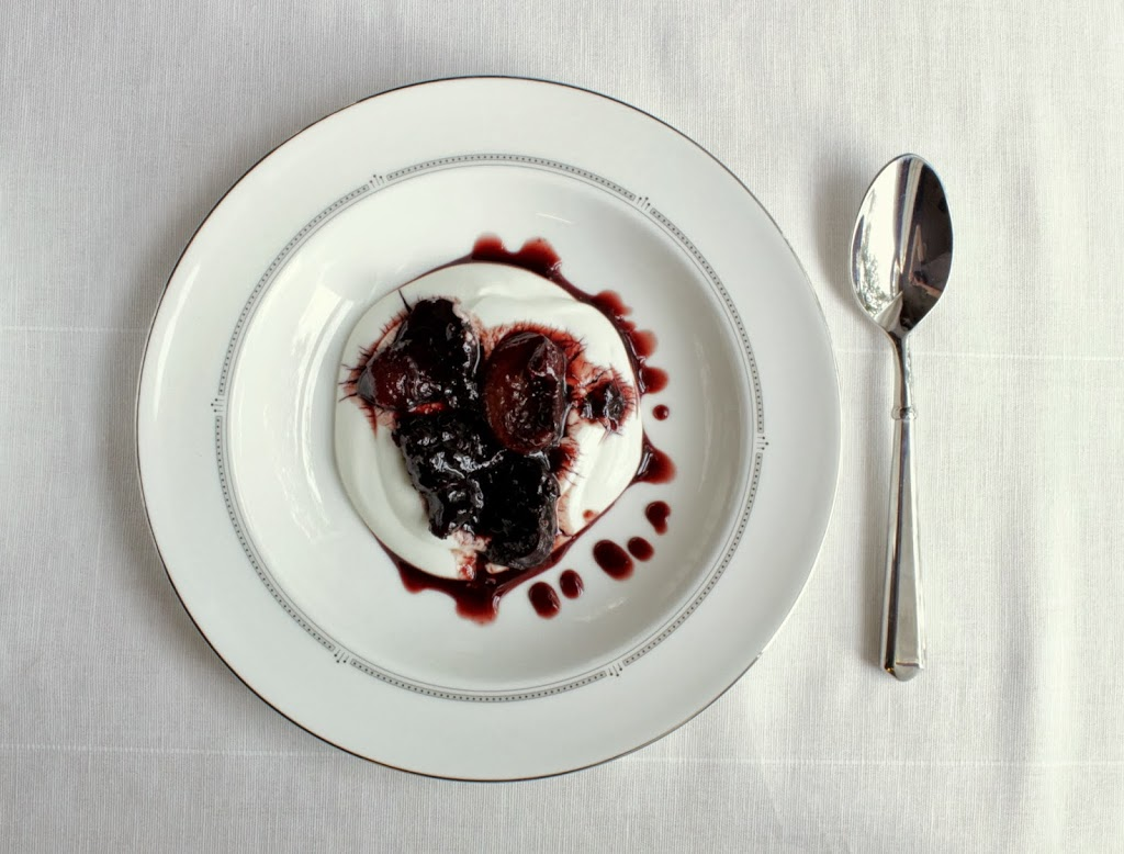 Stewed Fruit in Red Wine Syrup - Wooden Spoon Baking