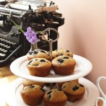 {Gluten-Free} Lemony Millet & Mulberry Muffins