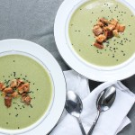 Broccoli Cheddar Soup with Wasabi