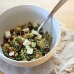 Quinoa Tabbouleh with Chickpeas, Feta, & Pomegranate