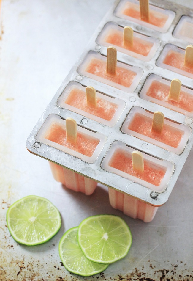 Watermelon Margarita Popsicles - Wooden Spoon Baking
