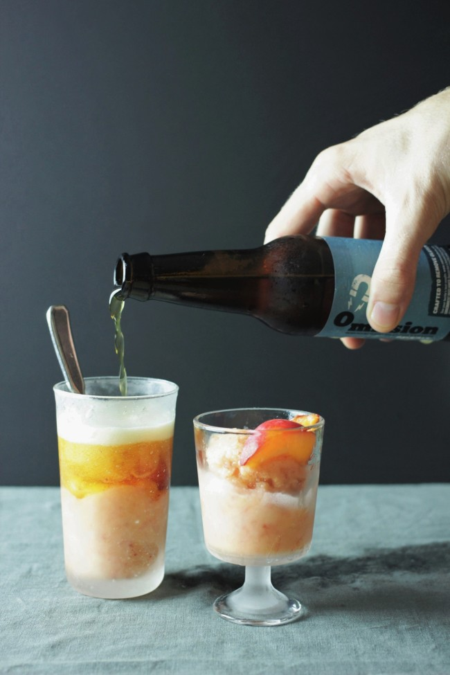 apricot sorbet beer floats
