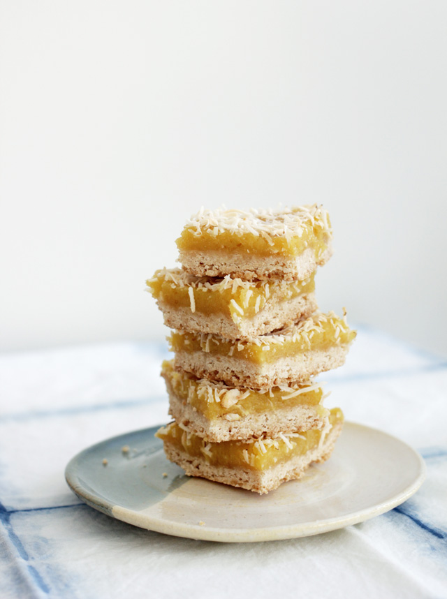 Gluten-Free Coconut Lemon Bars - Wooden Spoon Baking