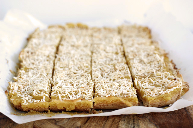 gluten-free lemon coconut bars