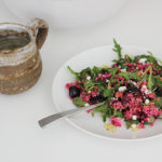Cherry, Quinoa and Beet Salad with Honey Lemon Vinaigrette